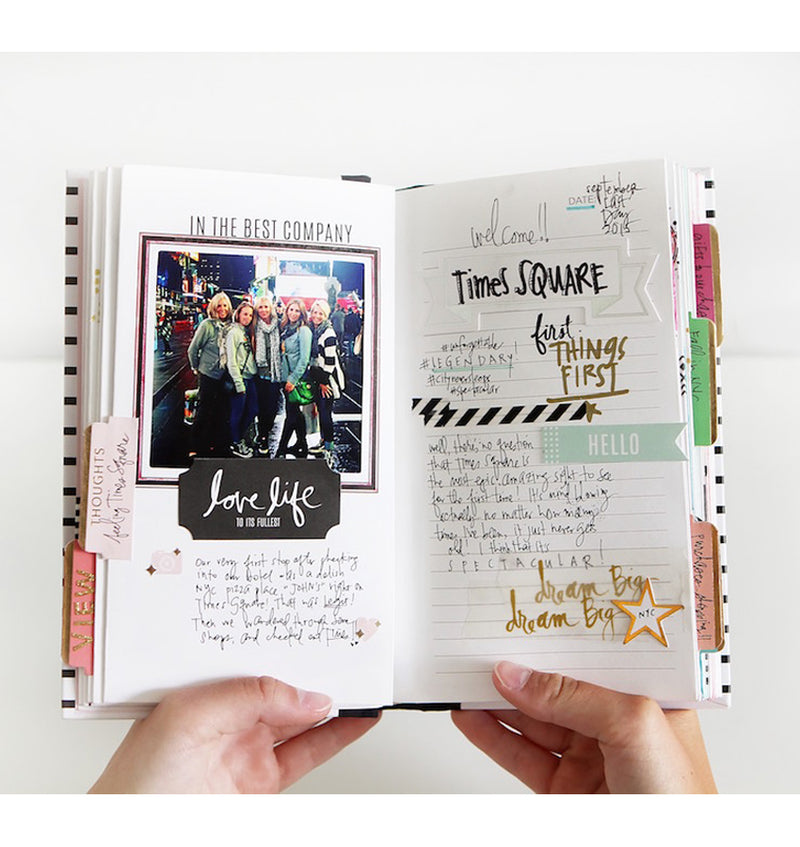 Actual Usage of Heidi Swapp Best of Times Life Theme Album Book with Photo and Writings to Capture Precious Memories