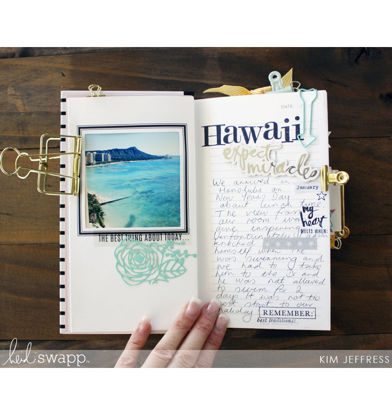 Heidi Swapp Best of Times Life Theme Album Book with Photo and Writings to Document Trips and Holidays