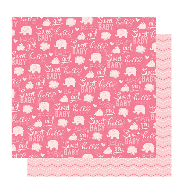 American Crafts Sweet Baby Girl 12 x 12 Double Sided Paper