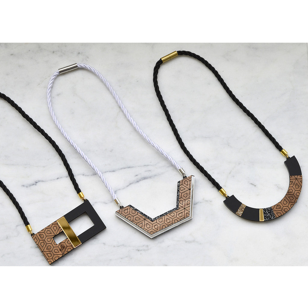 Cube Blocks Necklace