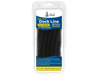 "1/2"" x 20' Black Solid Braided Poly Dock Line w/ Chafe Guard For Boats up to 35' - Sold Individually, Case Pack = 4"