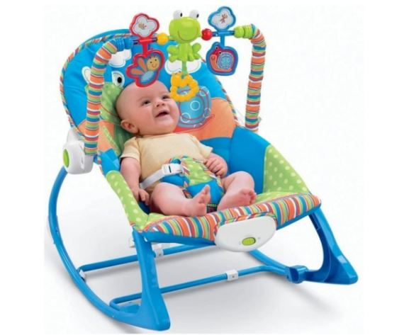IBaby Infant-to-Toddler Baby Rocker - Blue