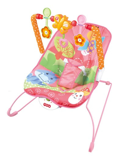 Ibaby Cartoon Deluxe Bouncer - Pink