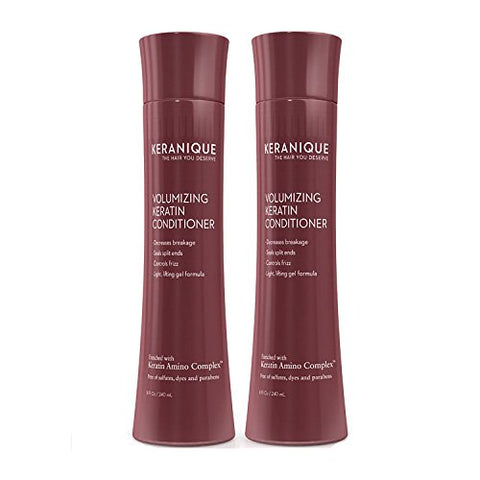 Keranique Volumizing Keratin Conditioner, 8 fl. oz. (2 Pack) 2 Pack