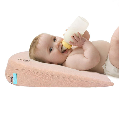 Universal Crib Wedge Pillow for Baby Crib Mattress Newborn Reflux and Newborn Nasal Congestion Reducer 100% Cotton Removable Cover | 15-Degree Incline for Better Night's Sleep