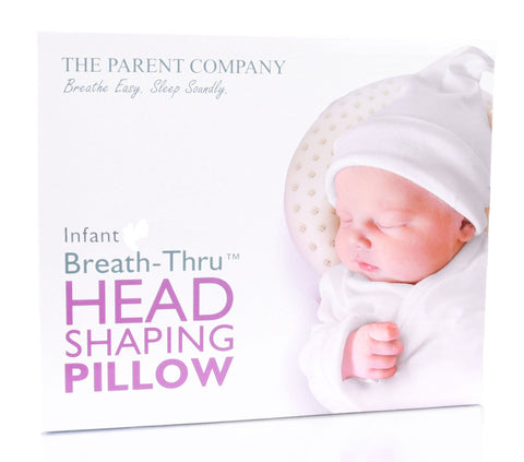 Infant Head Shaping Baby Pillow | Breathe-Thru Cushion for Head Support & Flat Head Syndrome (Positional Plagiocephaly) Prevention | 16.5-19 Inch Head Circumference