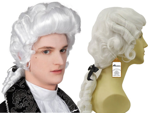 Anogol Hair+Cap White Curly Wig Cosplay Wig Synthetic Wig for Men White Cosplay Wig Cosplay Costume Wig Halloween White wig