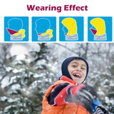 JEELAD Children's Kids Balaclava Ski Hat Winter Windproof Cap Warm Ski Hood Face Cover Dark Blue
