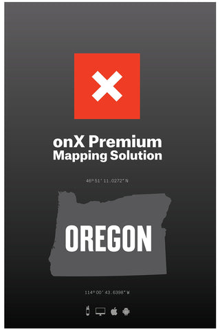 Oregon Hunting Maps: onX Hunt Chip for Garmin GPS - Public & Private Land Ownership - Hunting Units - Includes Premium Membership for onX Hunting App for iPhone, Android & Web