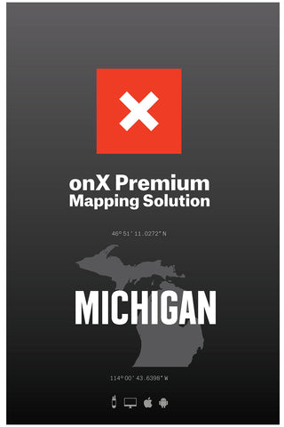 Michigan Hunting Maps: onX Hunt Chip for Garmin GPS - Public & Private Land Ownership - Game Management Units & Zones - Includes Premium Membership for onX Hunting App for iPhone, Android & Web