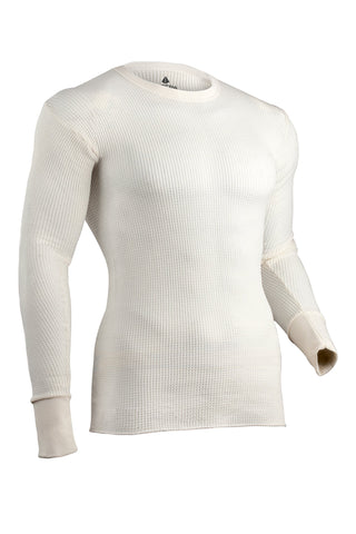 Indera Men's Tall Traditional Long Johns Thermal Underwear Top Natural 4X-Large