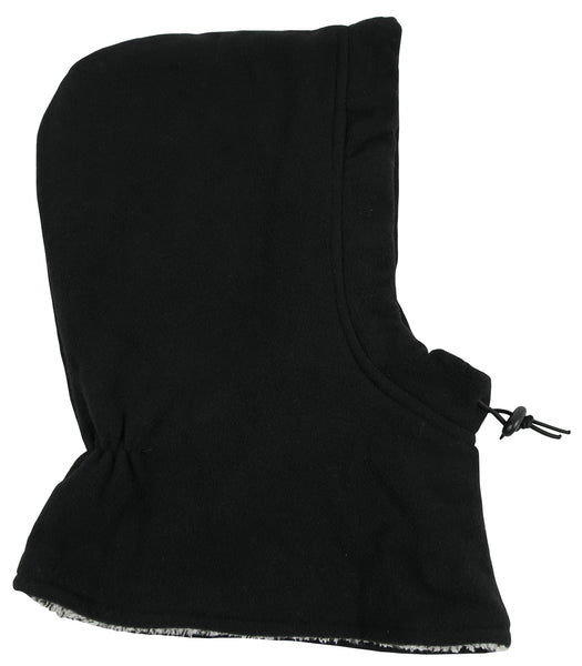 N'Ice Caps Kids Sherpa Lined Fleece Balaclava with Adjustable Draw Cord Black 4-6 Years