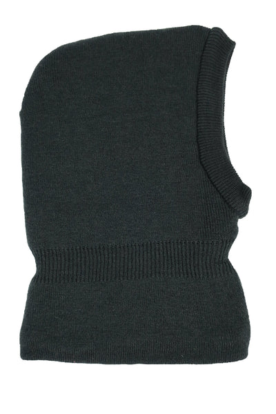 N'Ice Caps Kids Unisex Soft Sherpa Lined Knitted Balaclava Headwear Black 8-12 Years