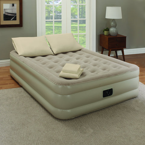 "Guestroom Survival Kit 18"" Inflatable Set Taupe Queen"