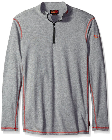 Ariat Men's Big and Tall Flame Resistant Polartec 1/4 Zip Baselayer Heather Gray XX-Large- Tall