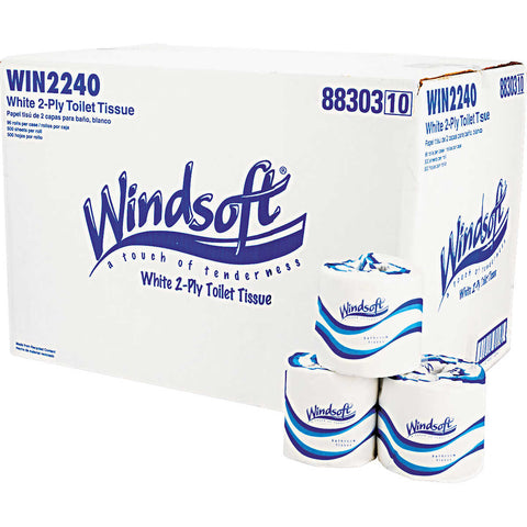 Windsoft Bath Tissue 2-Ply 500 Sheets, 96 Rolls