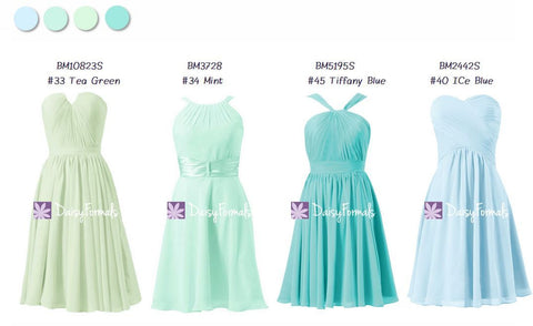 Blue & Green Mismatched Beaching Party Dresses - Seaside Wedding Inspiration (MM76)