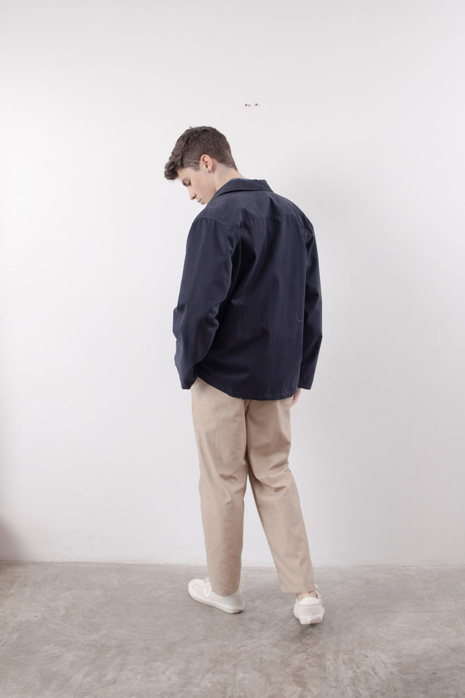POCKET COACH JACKET (Navy Blue)