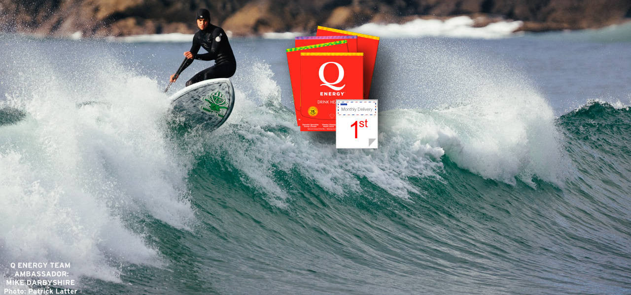 Q Energy - Drink Healthy. All Natural Sport Performance and Healthy Energy Drink featuring Quercetin. Ambassador Mike Darbyshire