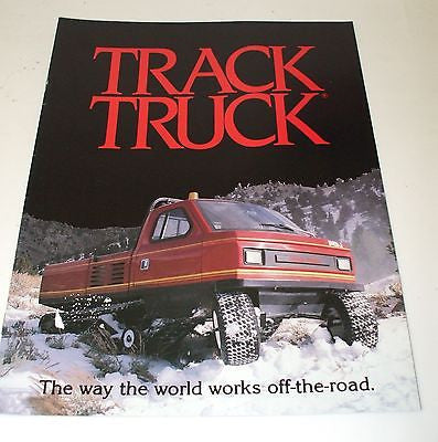 ASV Track Truck Sales Brochure Snow Groomer Snowmobile