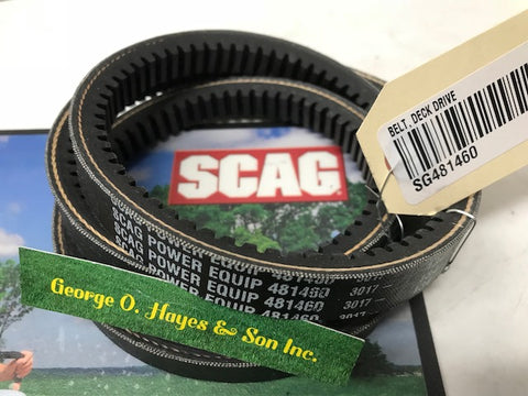Scag Mower OEM Belt, Deck Drive Belt  #481460