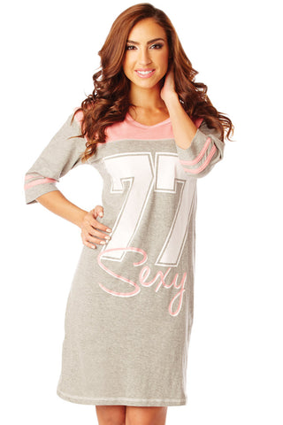 '77 Sexy Cotton Sleep Shirt Lounge - Lingerie Basement
