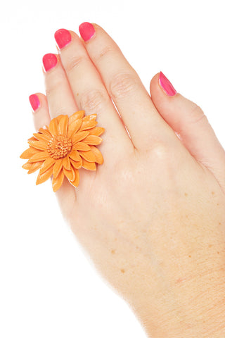 Flower Leather Rings Accessories - Lingerie Basement