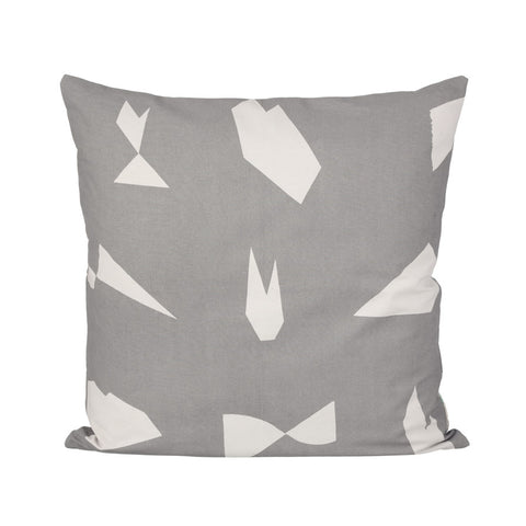 Cut cushion, grey