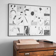 Large limited edition You Were Saying? print by Daniel Götessons a.k.a. EKTA for Fine Little Day