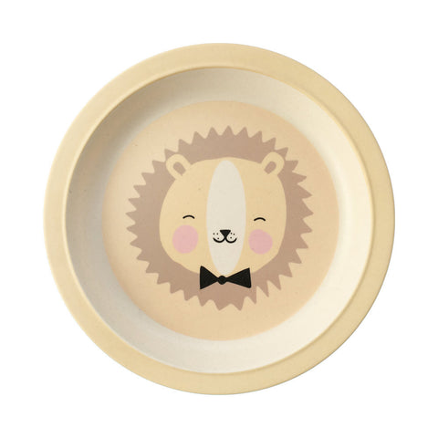 NEW * Bamboo plate Lovely Animals Friendly Lion - Eef Lillemor