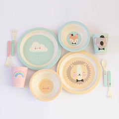 Bamboo tableware Lovely Animals and Lovely Weather for kids by Eef Lillemor