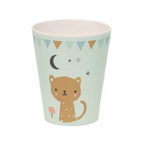 NEW * Bamboo cup Leopard, mint - Little Cube