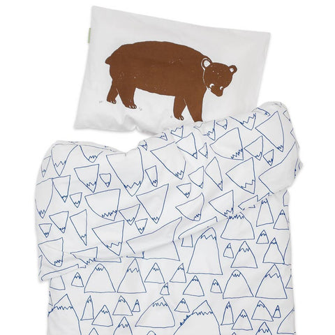 Bruno & Mountains bed set for baby bed
