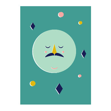 Confetti Moon print - Jess Long