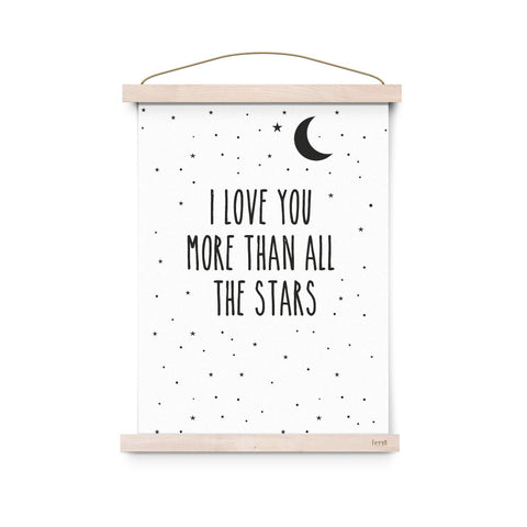 I love you more than all the stars A3 print - Eef Lillemor