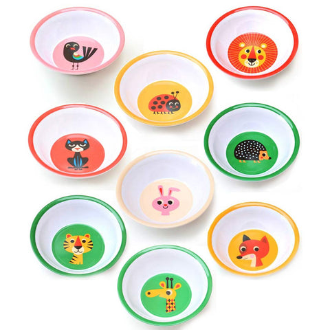 Melamine bowls, 20 different animals - Ingela P Arrhenius