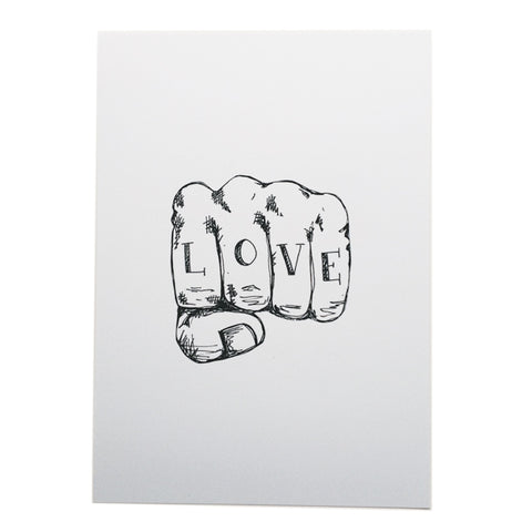 Love tattoo A4 print