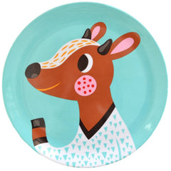Fawn melamine plate by Helen Dardik for Petit Monkey