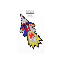Large embroidered Love Rocket iron on patch by Macon & Lesquoy