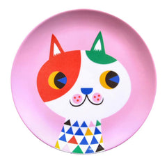 Melamine plate Cat by Helen Dardik for Petit Monkey