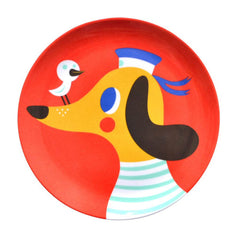 Melamine plate Dog by Helen Dardik for Petit Monkey