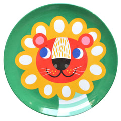 Melamine plate Lion by Helen Dardik for Petit Monkey