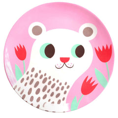 Melamine plate Polar Bear by Helen Dardik for Petit Monkey
