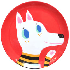 Melamine plate Wolf by Helen Dardik for Petit Monkey