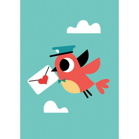 Love letter postcard or mini print - Tiago Americo