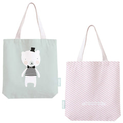 Cotton shopper Polar bear by Eef Lillemor, available at The Pippa & Ike Show