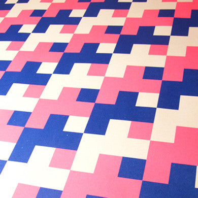 Graphic gift wrap pink/blue, 2 sheets - Grafika