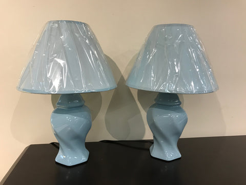 WI714BU Blue Table Lamp