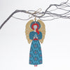 Large Angel Christmas tree decoration with yellow wings