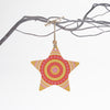 Orange star Christmas tree decoration
